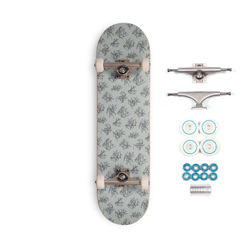 Scribble Motif Pattern Accessories Complete - Basic Skateboard by Mr Loco Motif - Artist Shop