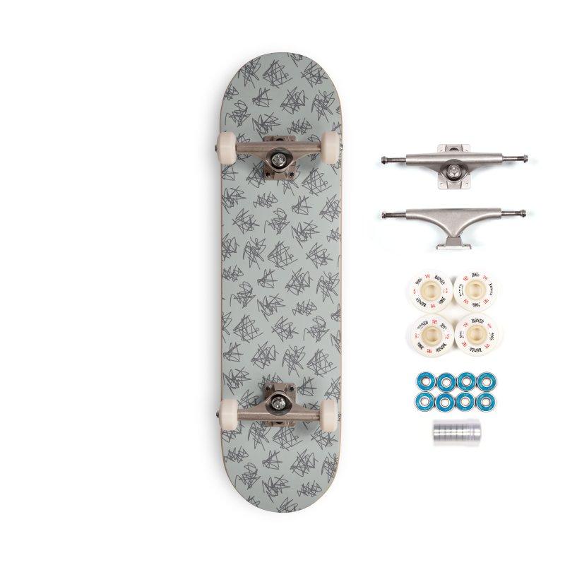 Scribble Motif Pattern Accessories Complete - Premium Skateboard by Mr Loco Motif - Artist Shop