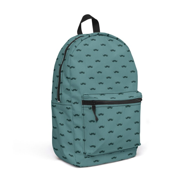 Mustache Motif Pattern Accessories Backpack Bag by Mr Loco Motif - Artist Shop