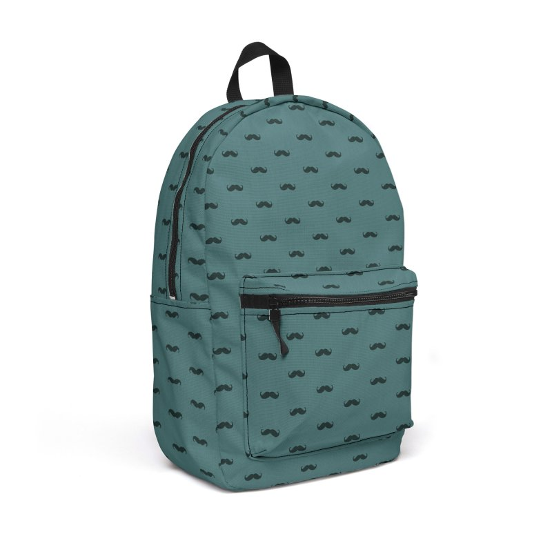 Mustache Motif Pattern Accessories Backpack Bag by Mr Loco Motif