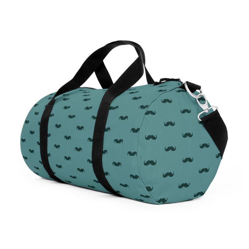 Mustache Motif Pattern Accessories Duffel Bag Bag by Mr Loco Motif