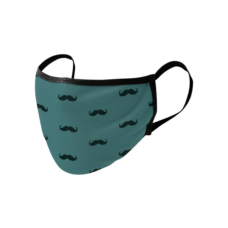 Mustache Motif Pattern Accessories Face Mask by Mr Loco Motif