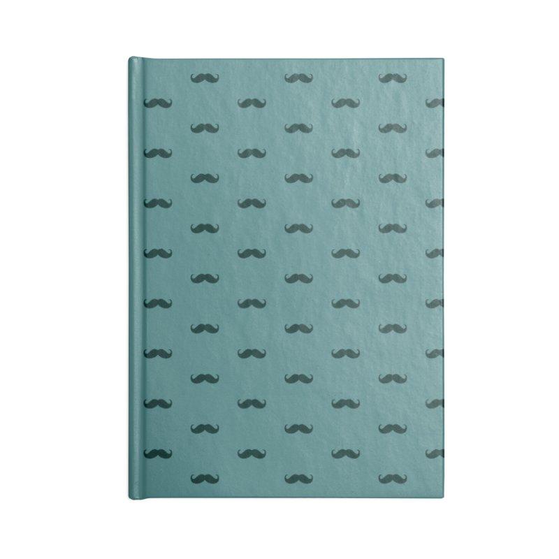 Mustache Motif Pattern Accessories Lined Journal Notebook by Mr Loco Motif - Artist Shop