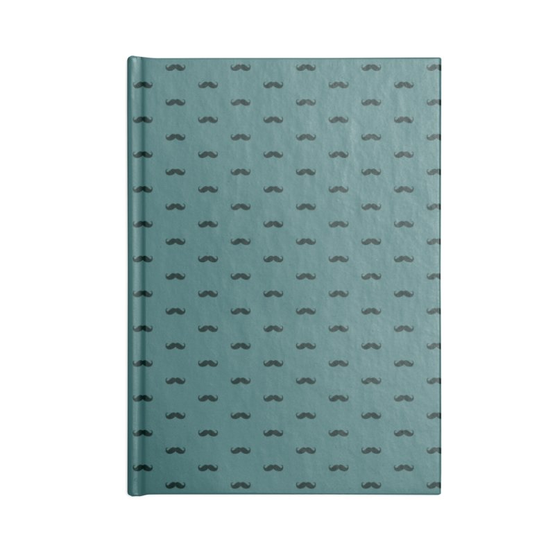 Mustache Motif Pattern Accessories Lined Journal Notebook by Mr Loco Motif