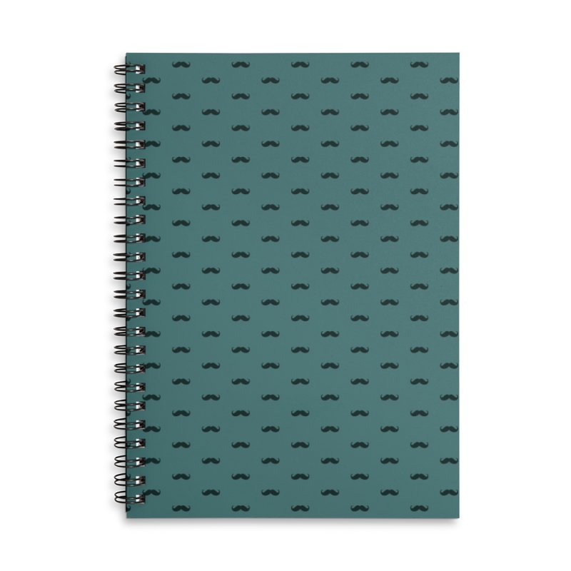 Mustache Motif Pattern Accessories Lined Spiral Notebook by Mr Loco Motif