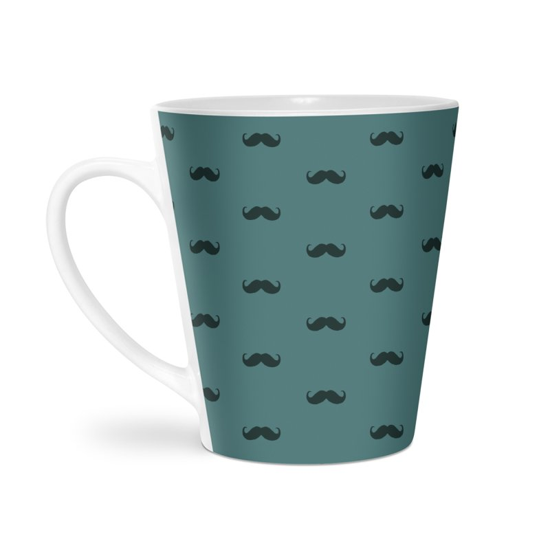 Mustache Motif Pattern Accessories Latte Mug by Mr Loco Motif - Artist Shop