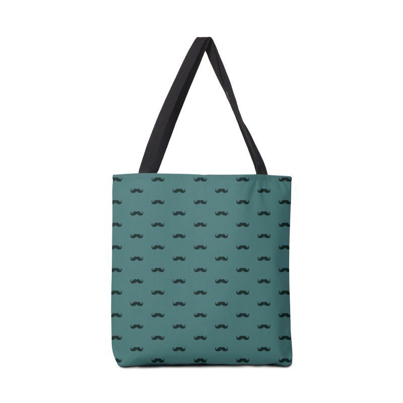 Mustache Motif Pattern Accessories Tote Bag Bag by Mr Loco Motif