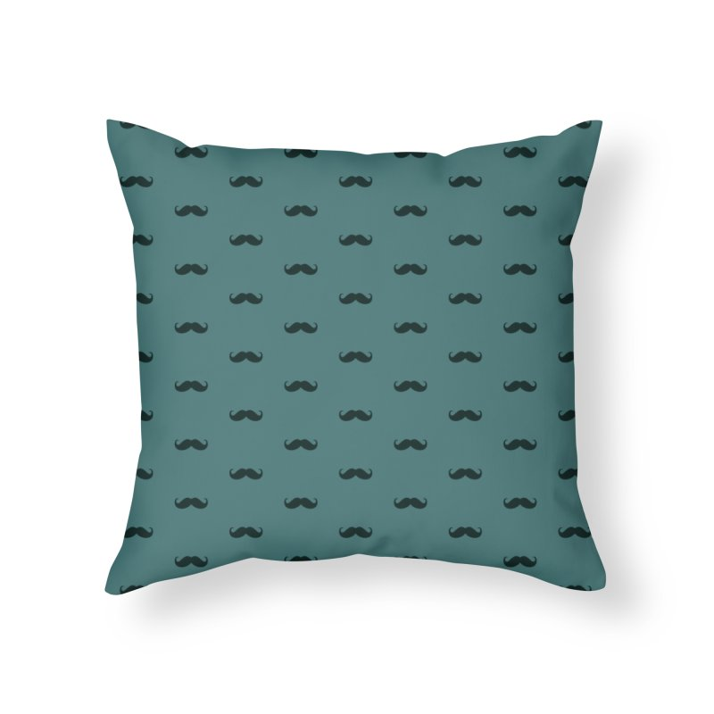 Mustache Motif Pattern Home Throw Pillow by Mr Loco Motif