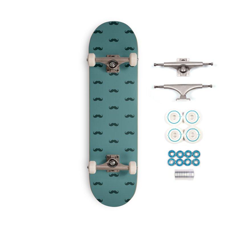 Mustache Motif Pattern Accessories Complete - Basic Skateboard by Mr Loco Motif - Artist Shop