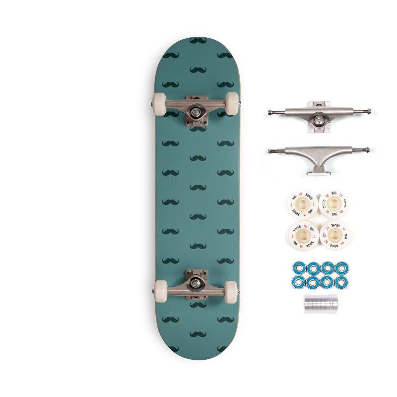 Mustache Motif Pattern Accessories Complete - Premium Skateboard by Mr Loco Motif - Artist Shop