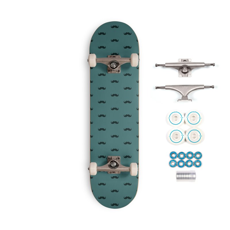Mustache Motif Pattern Accessories Complete - Basic Skateboard by Mr Loco Motif