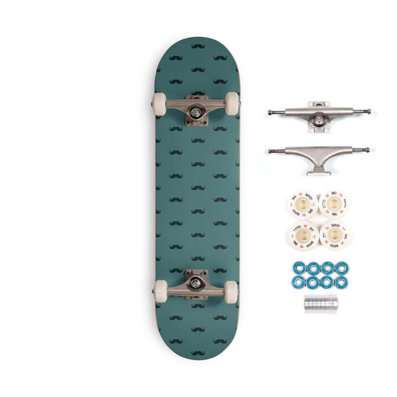 Mustache Motif Pattern Accessories Complete - Premium Skateboard by Mr Loco Motif