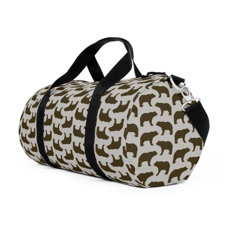 Bear Motif Pattern Accessories Duffel Bag Bag by Mr Loco Motif - Artist Shop