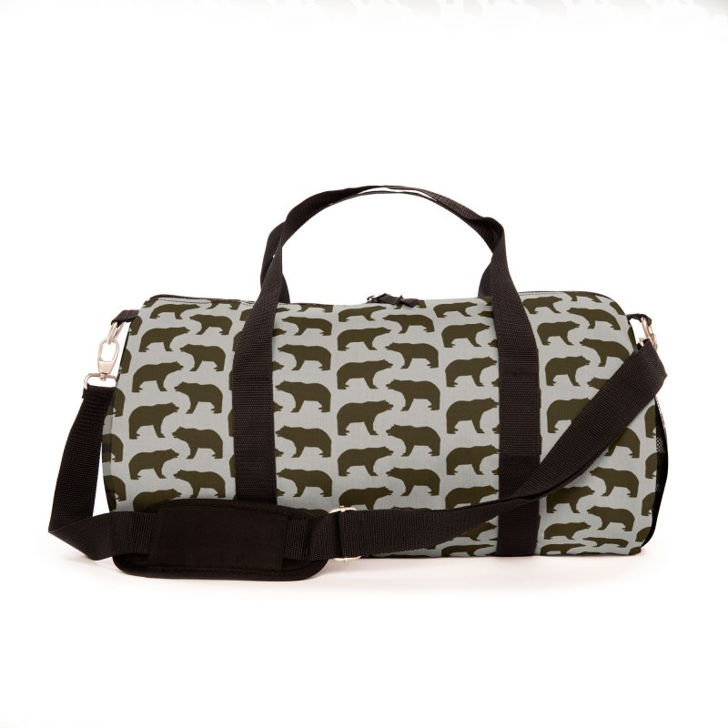 Bear Motif Pattern Accessories Bag by Mr Loco Motif