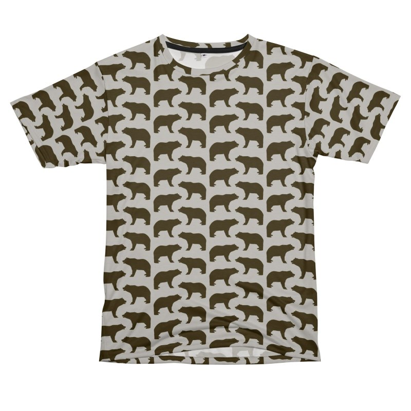 Bear Motif Pattern Men's Cut & Sew by Mr Loco Motif
