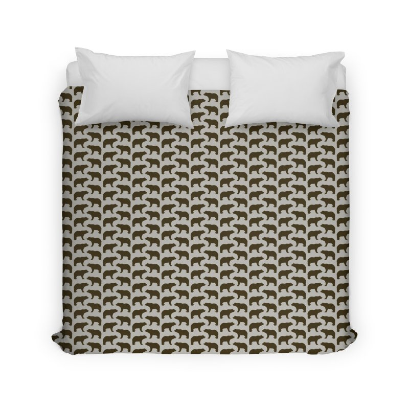 Bear Motif Pattern Home Duvet by Mr Loco Motif - Artist Shop