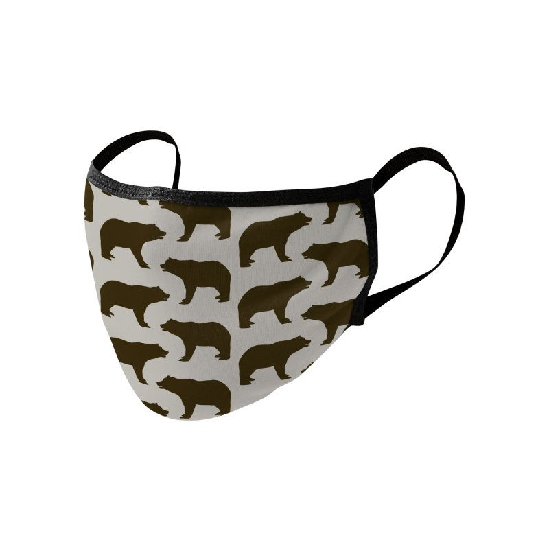 Bear Motif Pattern Accessories Face Mask by Mr Loco Motif