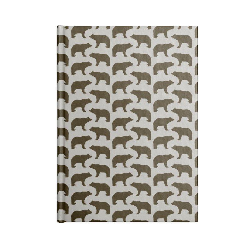 Bear Motif Pattern Accessories Lined Journal Notebook by Mr Loco Motif - Artist Shop