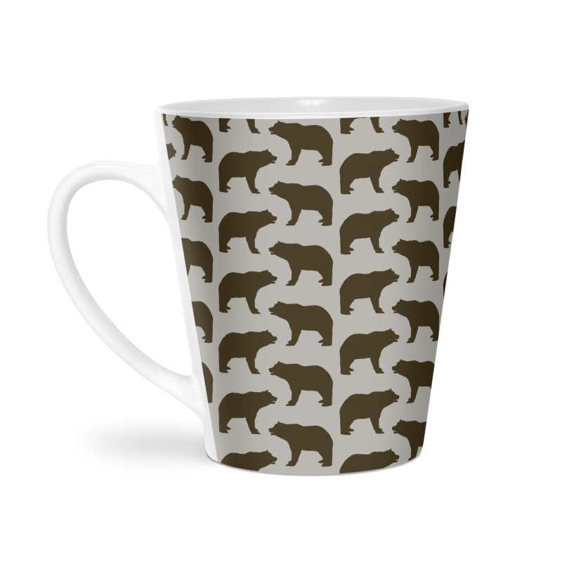 Bear Motif Pattern Accessories Latte Mug by Mr Loco Motif - Artist Shop