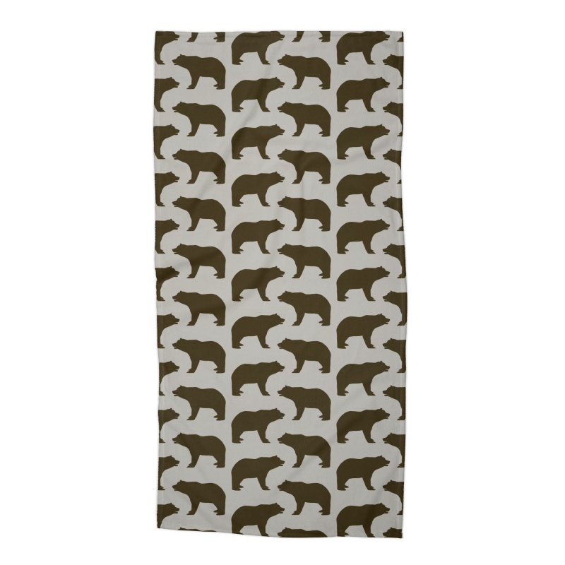 Bear Motif Pattern Accessories Beach Towel by Mr Loco Motif