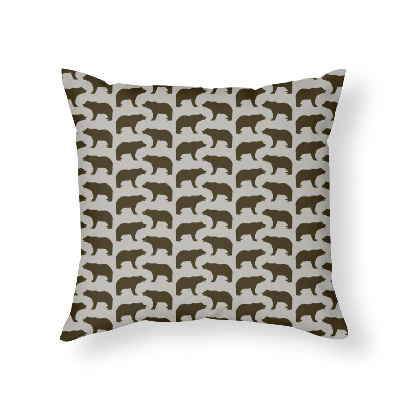 Bear Motif Pattern Home Throw Pillow by Mr Loco Motif