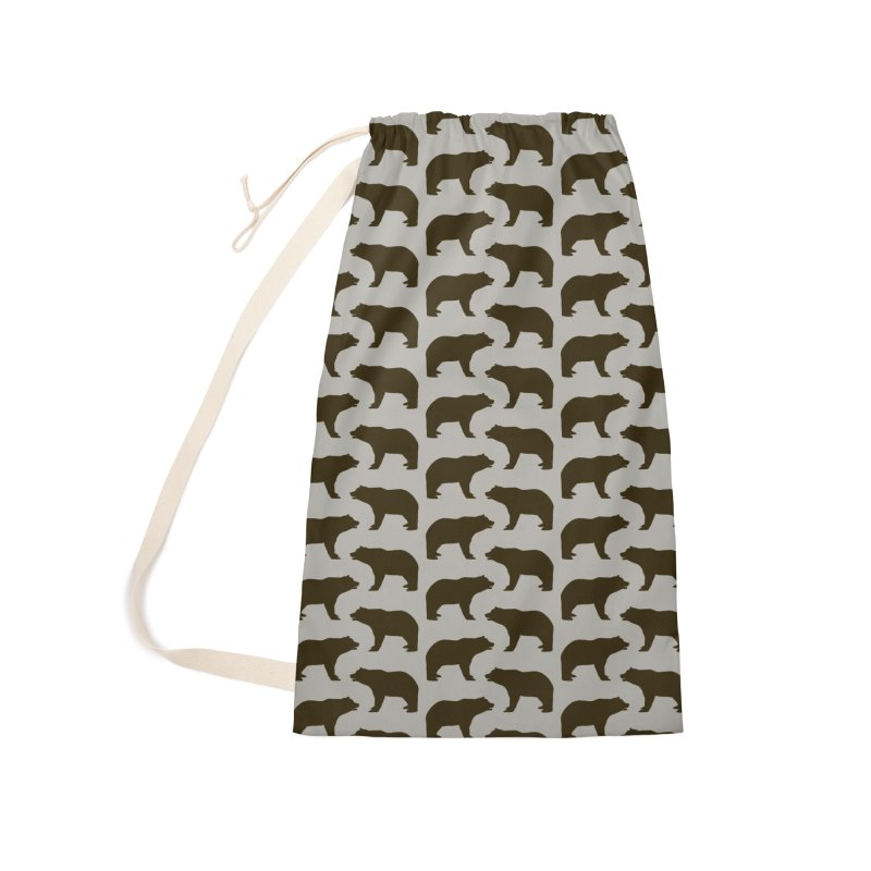 Bear Motif Pattern Accessories Laundry Bag Bag by Mr Loco Motif - Artist Shop