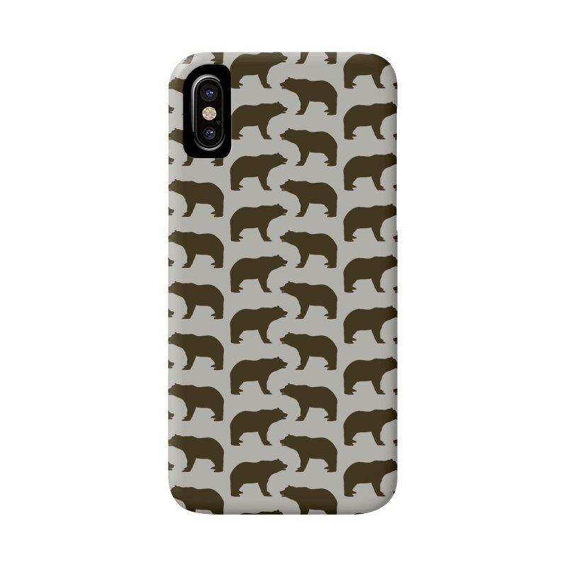 Bear Motif Pattern Accessories Phone Case by Mr Loco Motif - Artist Shop