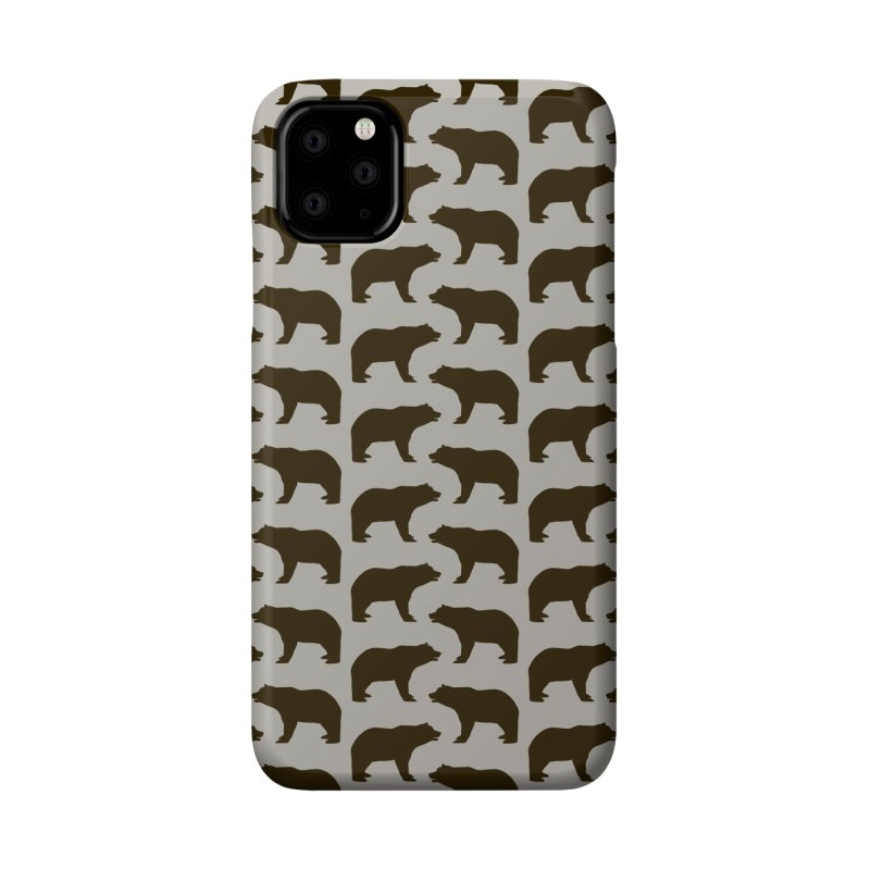 Bear Motif Pattern Accessories Phone Case by Mr Loco Motif