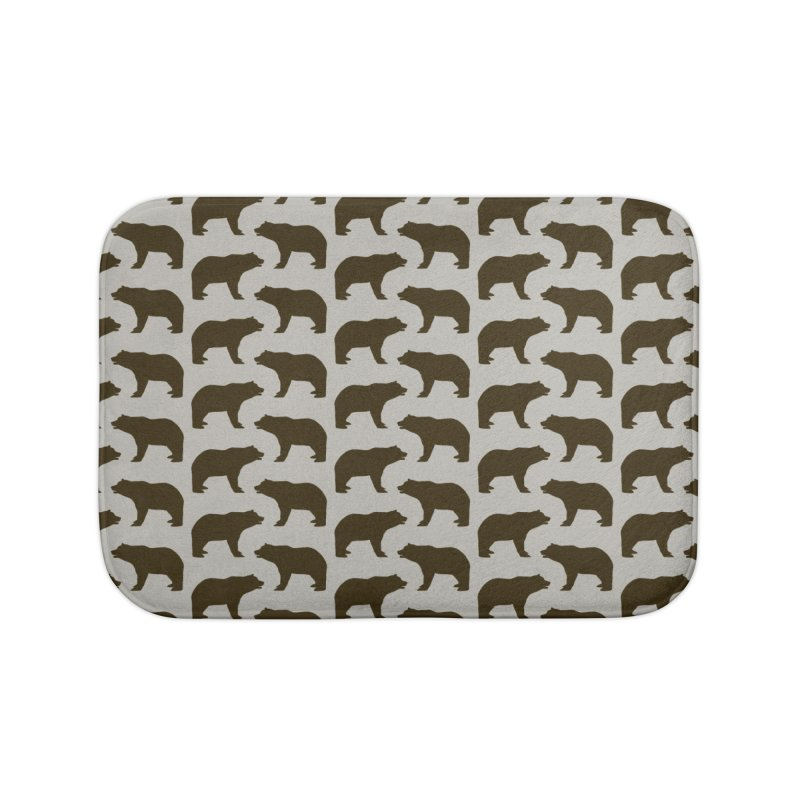 Bear Motif Pattern Home Bath Mat by Mr Loco Motif