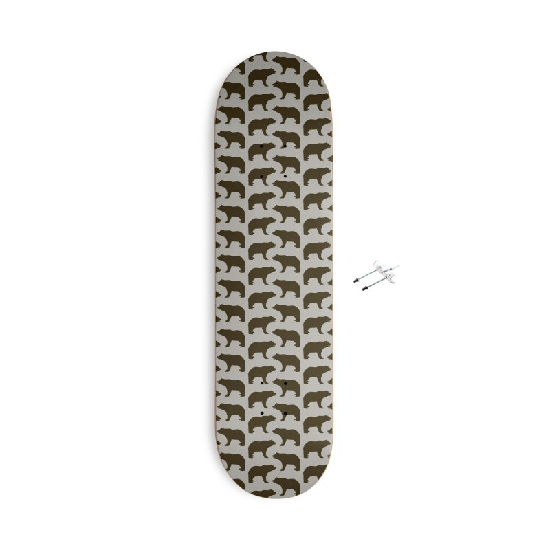 Bear Motif Pattern Accessories With Hanging Hardware Skateboard by Mr Loco Motif