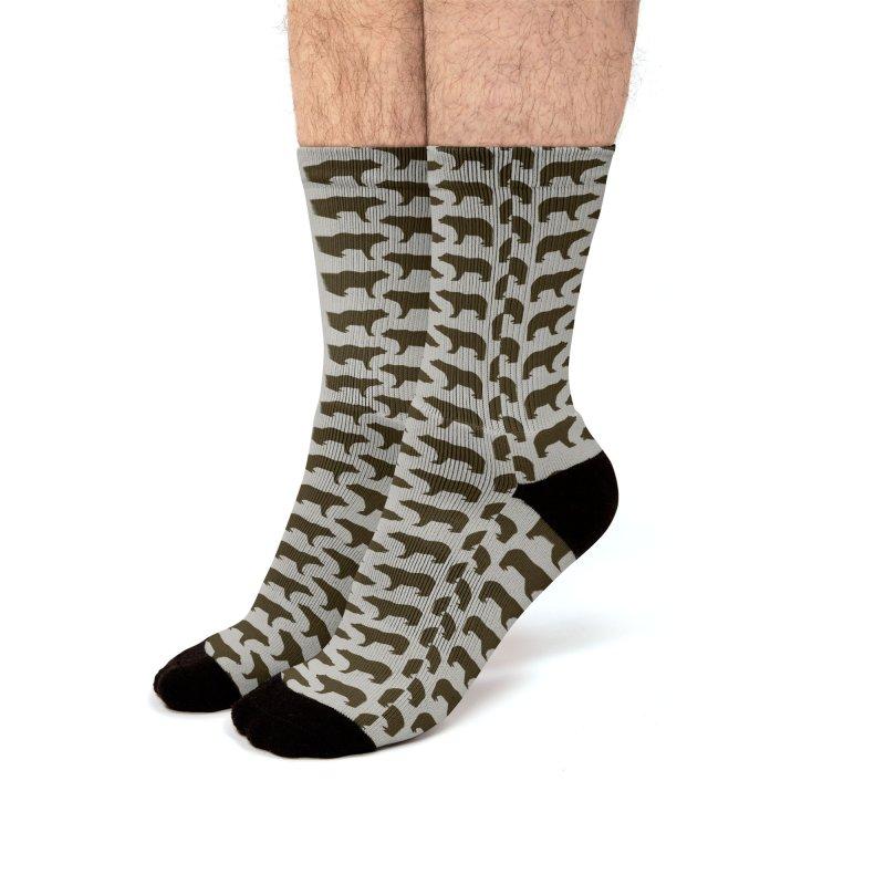 Bear Motif Pattern Men's Socks by Mr Loco Motif