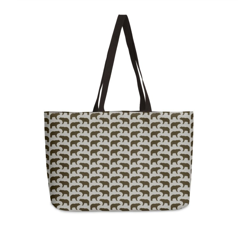 Bear Motif Pattern Accessories Weekender Bag Bag by Mr Loco Motif
