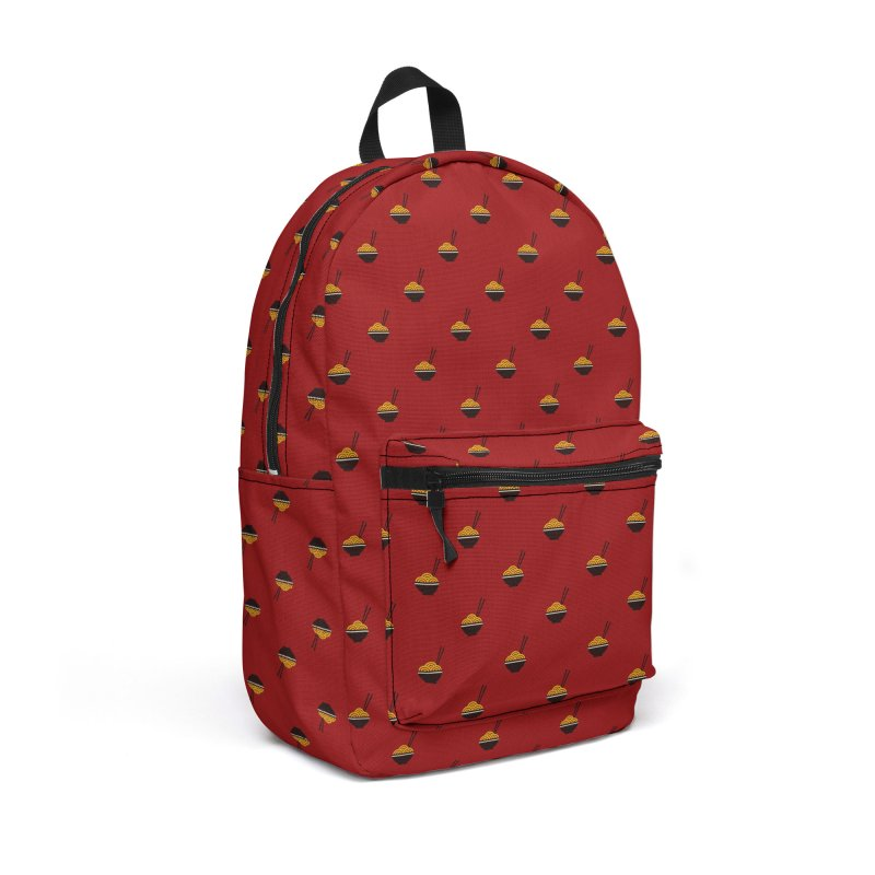 Noodles Motif Pattern Accessories Backpack Bag by Mr Loco Motif