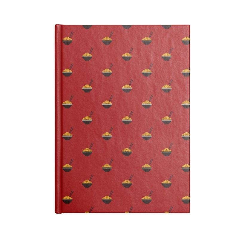 Noodles Motif Pattern Accessories Blank Journal Notebook by Mr Loco Motif - Artist Shop