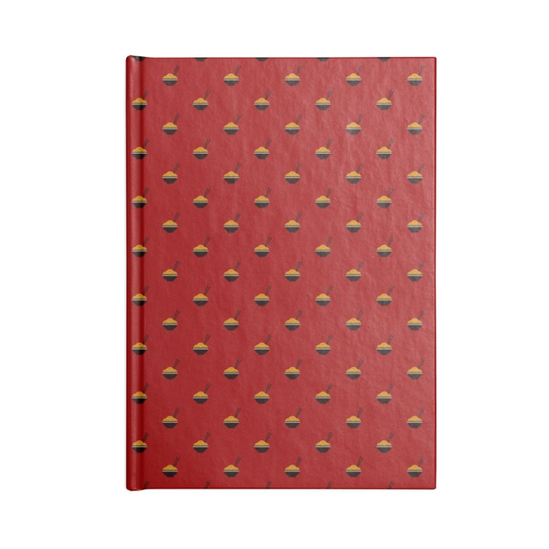 Noodles Motif Pattern Accessories Blank Journal Notebook by Mr Loco Motif