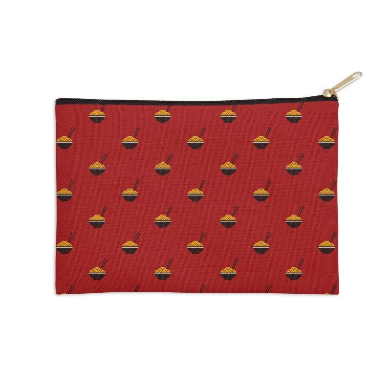 Noodles Motif Pattern Accessories Zip Pouch by Mr Loco Motif