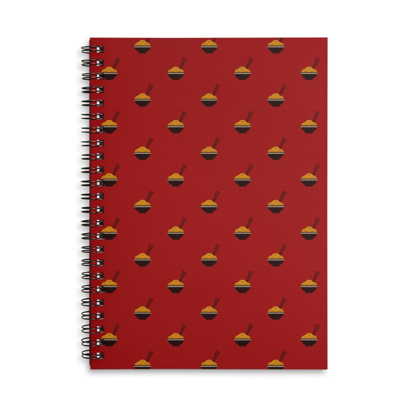 Noodles Motif Pattern Accessories Lined Spiral Notebook by Mr Loco Motif - Artist Shop