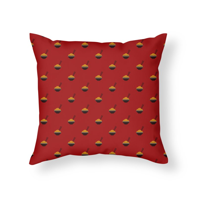Noodles Motif Pattern Home Throw Pillow by Mr Loco Motif