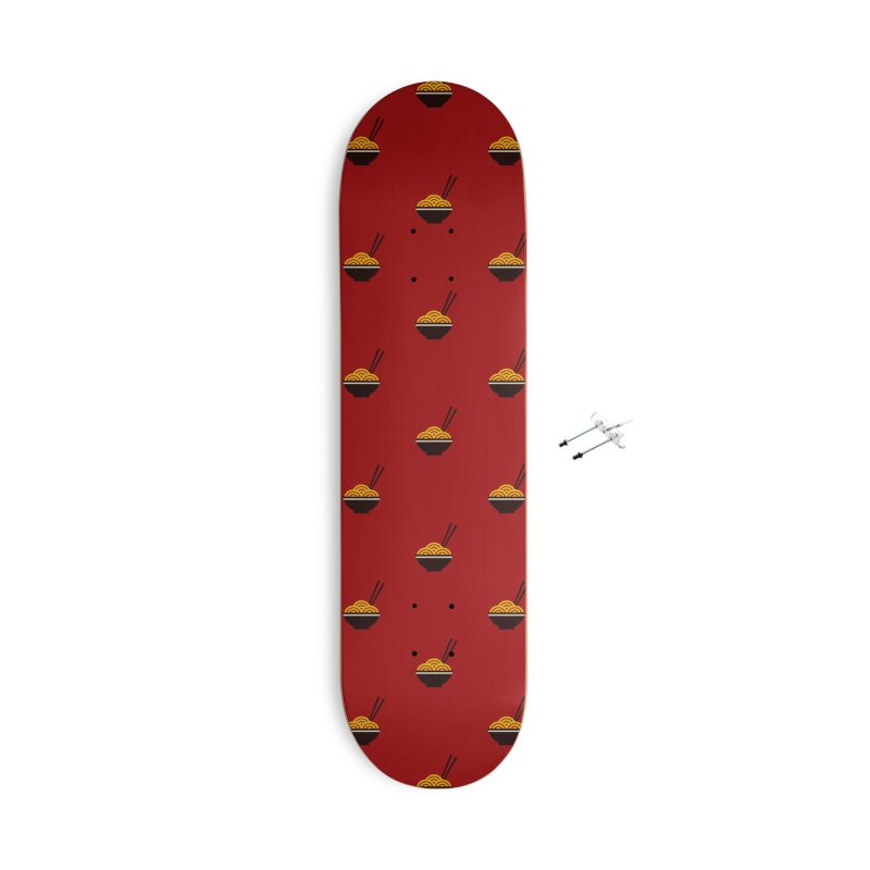 Noodles Motif Pattern Accessories With Hanging Hardware Skateboard by Mr Loco Motif - Artist Shop