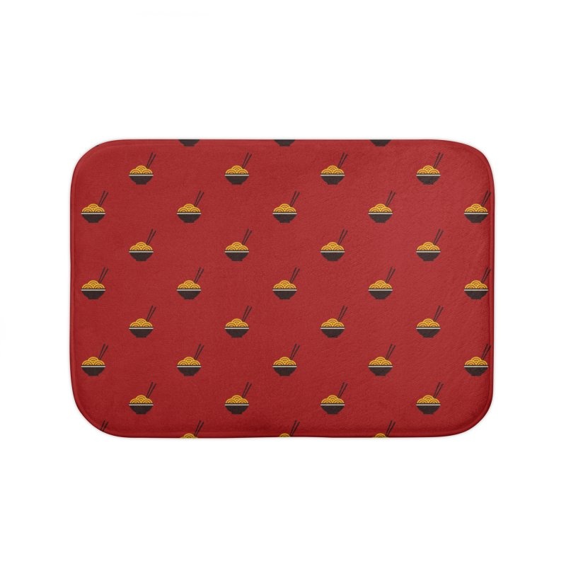 Noodles Motif Pattern Home Bath Mat by Mr Loco Motif