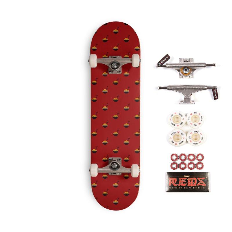 Noodles Motif Pattern Accessories Complete - Pro Skateboard by Mr Loco Motif