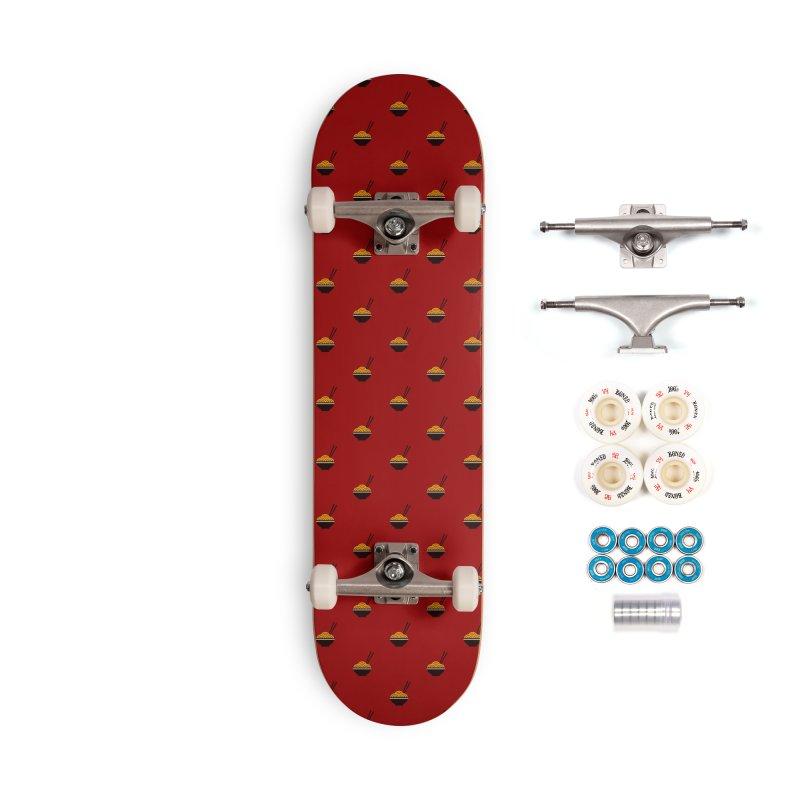 Noodles Motif Pattern Accessories Skateboard by Mr Loco Motif
