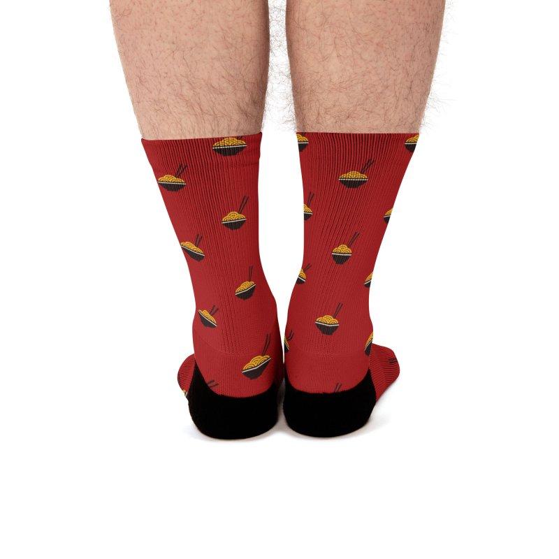 Noodles Motif Pattern Men's Socks by Mr Loco Motif