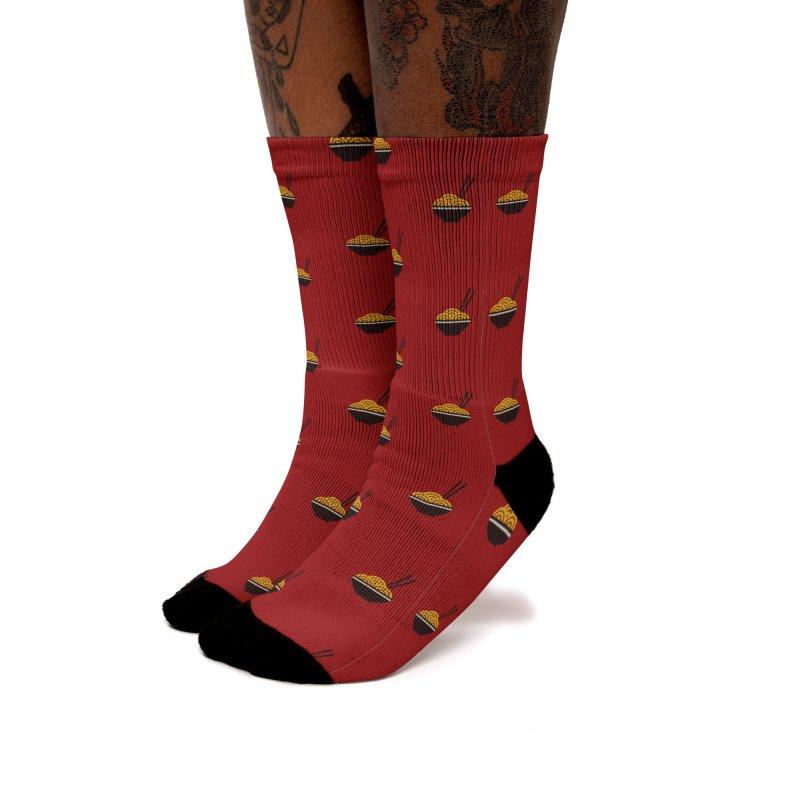 Noodles Motif Pattern Women's Socks by Mr Loco Motif