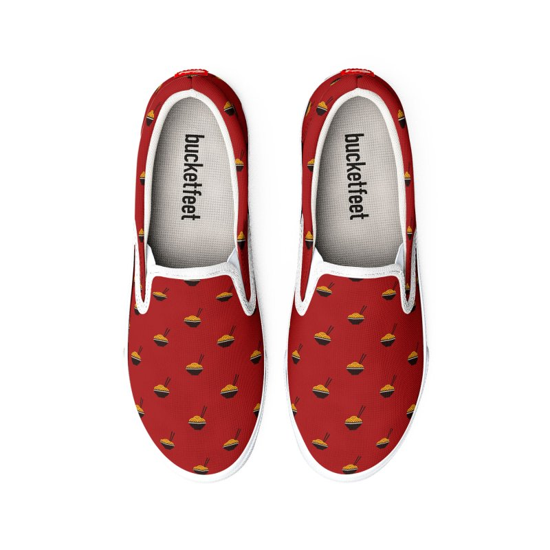 Noodles Motif Pattern Men's Shoes by Mr Loco Motif