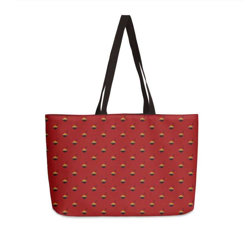 Noodles Motif Pattern Accessories Weekender Bag Bag by Mr Loco Motif