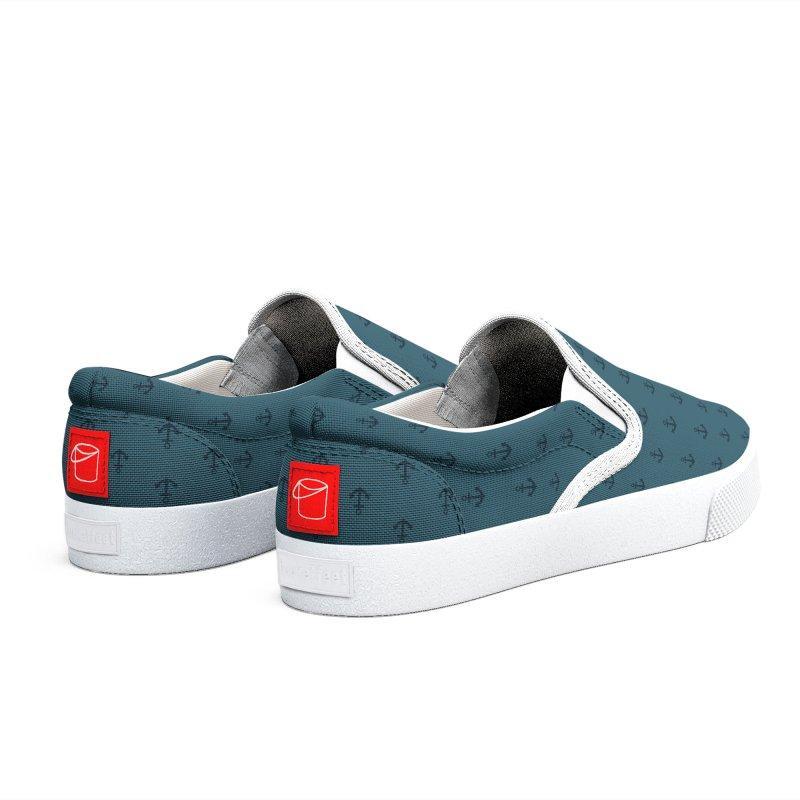 Anchor Motif Pattern Men's Shoes by Mr Loco Motif
