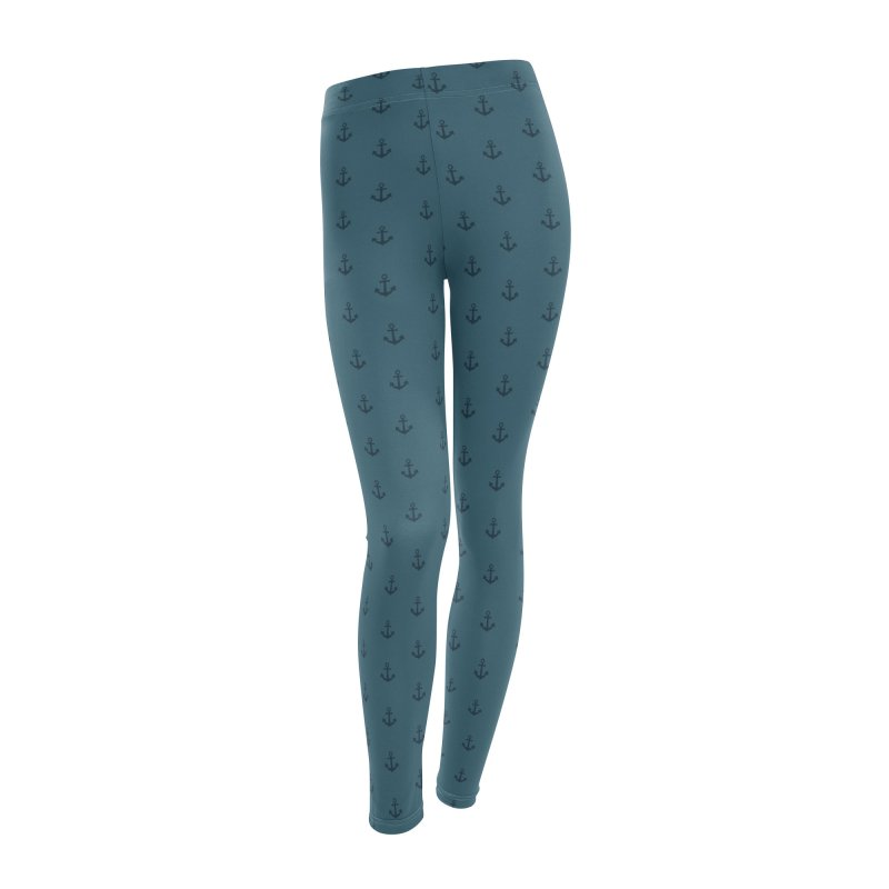 Anchor Motif Pattern Women's Leggings Bottoms by Mr Loco Motif