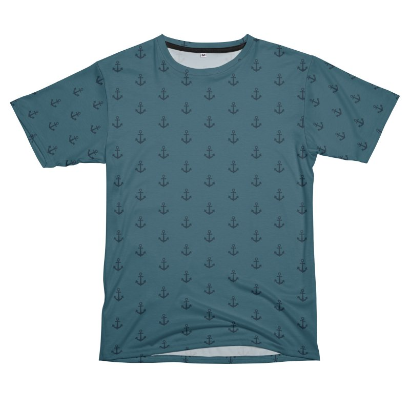 Anchor Motif Pattern Men's T-Shirt Cut & Sew by Mr Loco Motif - Artist Shop