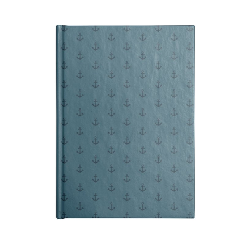 Anchor Motif Pattern Accessories Lined Journal Notebook by Mr Loco Motif - Artist Shop